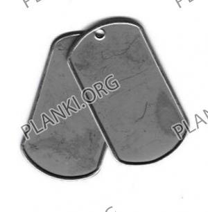 Комплект из 2х жетонов стандарт НАТО – 128 грн.
